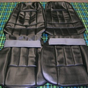 FORD-XA FAIRMONT/GT-SEAT COVERS BLACK VINYL-NEW