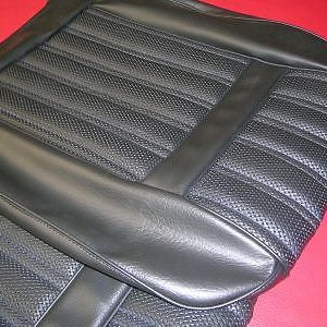 FORD 1971-XY FAIRMONT/GT-SEAT COVERS BLACK VINYL-NEW