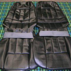 FORD-XA FAIRMONT/GT-SEAT COVERS BLACK VINYL-NEW
