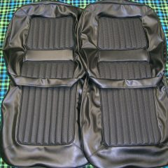 FORD-XW FAIRMONT/GT BLACK SEAT COVERS-FRONT