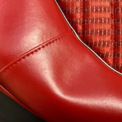 FORD-XL DELUXE SEAT RETRIM-RED-AS ORIGINAL